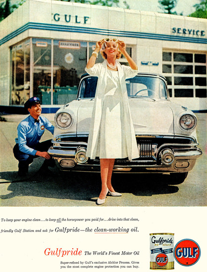 Gulf Lady 1957 | Sex Appeal Vintage Ads and Covers 1891-1970