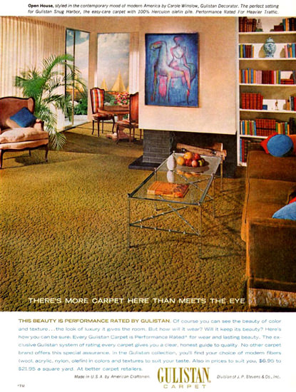 Gulistan Carpet 1965 | Vintage Ad and Cover Art 1891-1970