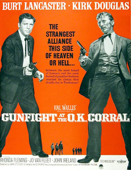 Gunfight At The Corral 1957 Lancaster Douglas | Sex Appeal Vintage Ads and Covers 1891-1970