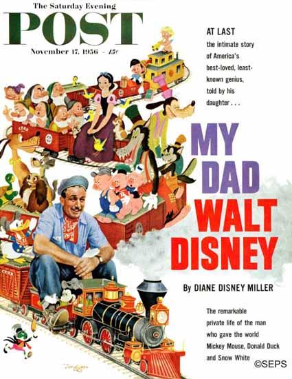 Gustaf Tenggren Saturday Evening Post Walt Disney Toon 1956_11_17 | The Saturday Evening Post Graphic Art Covers 1931-1969