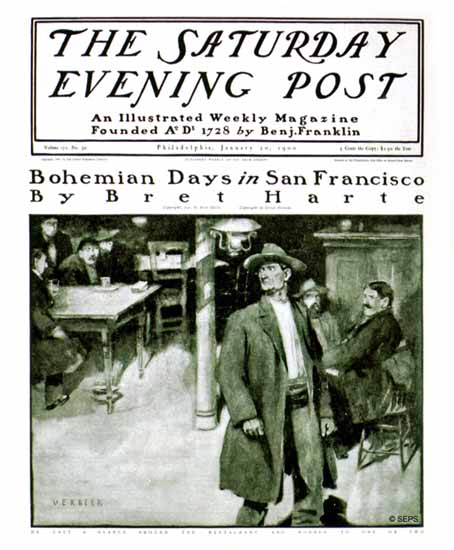 Gustave Verbeek Saturday Evening Post Bohemian S Francisco 1900_01_20 | The Saturday Evening Post Graphic Art Covers 1892-1930