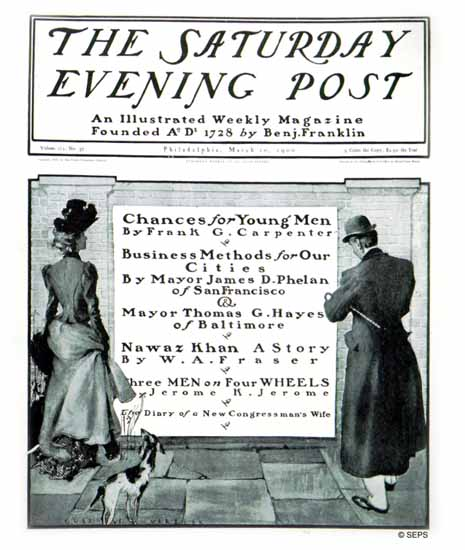 Gustave Verbeek Saturday Evening Post Cover 1900_03_10 | The Saturday Evening Post Graphic Art Covers 1892-1930