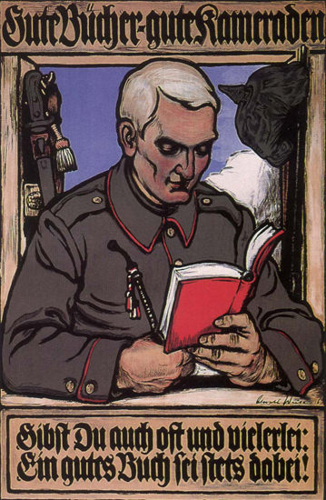 Gute Buecher Gute Kameraden Books Fellows | Vintage War Propaganda Posters 1891-1970