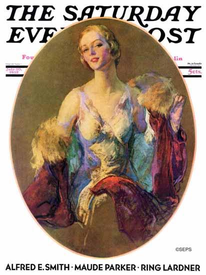 Guy Hoff Cover Artist Saturday Evening Post 1932_07_30   The Saturday Evening Post Graphic Art Covers 1931-1969