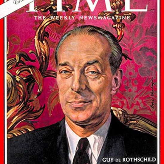 Guy de Rothschild Time Magazine 1963-12 by Boris Chaliapin crop   Best of Vintage Cover Art 1900-1970