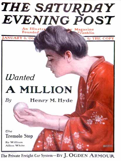 H Irving Marlatt Saturday Evening Post Cover 1906_01_06 | The Saturday Evening Post Graphic Art Covers 1892-1930
