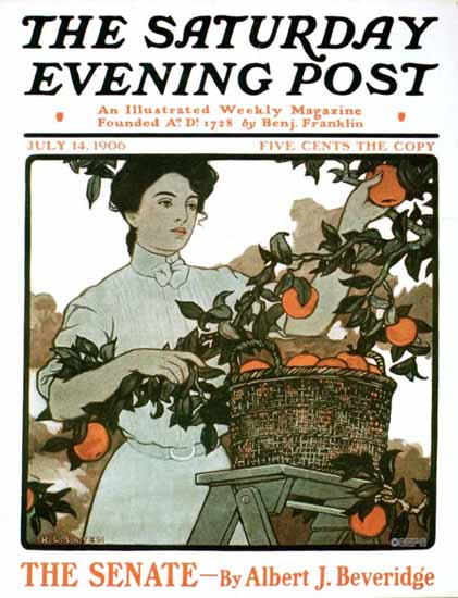 H Lyman Sayen Saturday Evening Post Cover 1906_07_14 | The Saturday Evening Post Graphic Art Covers 1892-1930