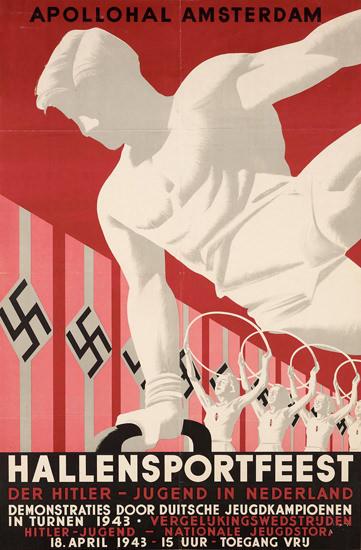 Hallensportfeest Apollohal Hitler Jugend 1943 | Vintage War Propaganda Posters 1891-1970