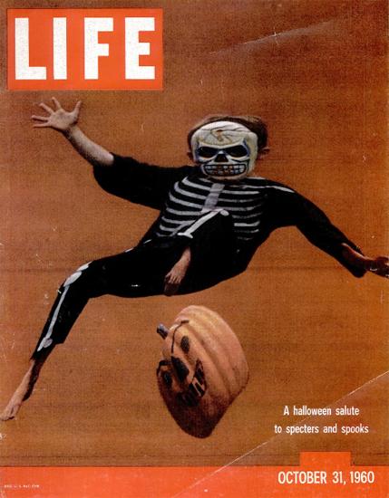 Halloween Salute Specters Spooks 31 Oct 1960 Copyright Life Magazine | Life Magazine Color Photo Covers 1937-1970