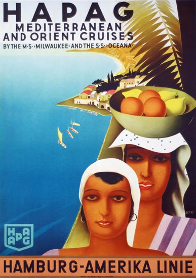 Hamburg-Amerika Mediterranean Orient 1931 | Vintage Travel Posters 1891-1970