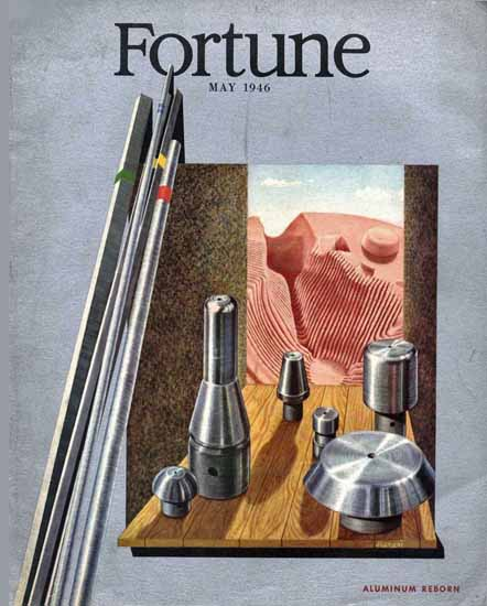 Hananiah Harari Fortune Magazine May 1946 Copyright | Fortune Magazine Graphic Art Covers 1930-1959