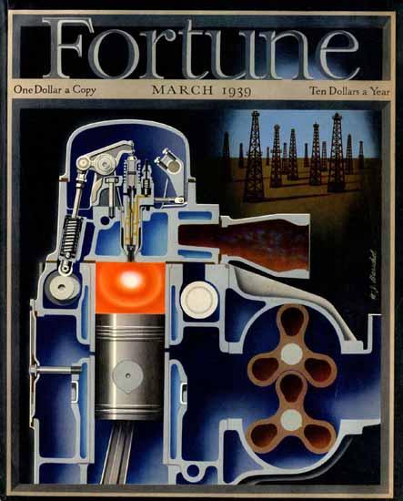 Hans Barschel Fortune Magazine March 1939 Copyright | Fortune Magazine Graphic Art Covers 1930-1959
