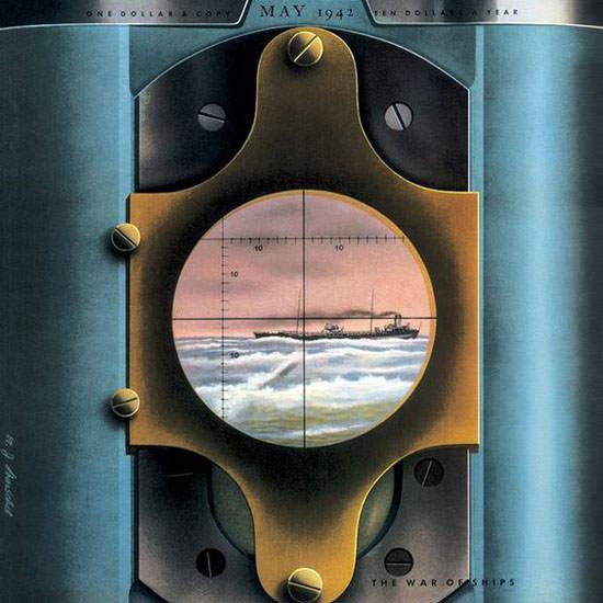 Hans Barschel Fortune Magazine May 1942 Copyright crop   Best of Vintage Cover Art 1900-1970