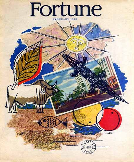 Hans Moller Fortune Magazine February 1948 Copyright | Fortune Magazine Graphic Art Covers 1930-1959