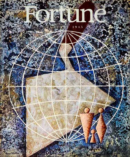 Hans Moller Fortune Magazine January 1945 Copyright | Fortune Magazine Graphic Art Covers 1930-1959