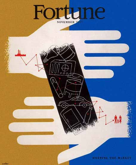 Hans Moller Fortune Magazine November 1947 Copyright | Fortune Magazine Graphic Art Covers 1930-1959