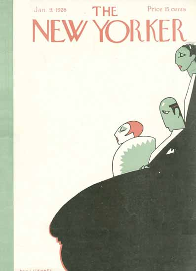 Hans Stengel The New Yorker 1926_01_09 Copyright | The New Yorker Graphic Art Covers 1925-1945