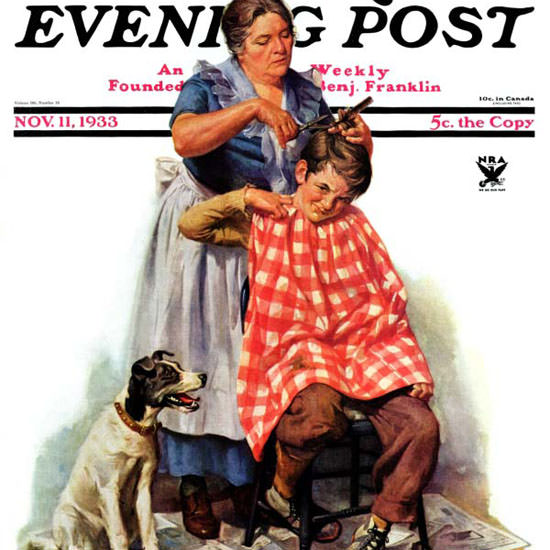 Harold Anderson Saturday Evening Post Cut 1933_11_11 Copyright crop | Best of Vintage Cover Art 1900-1970