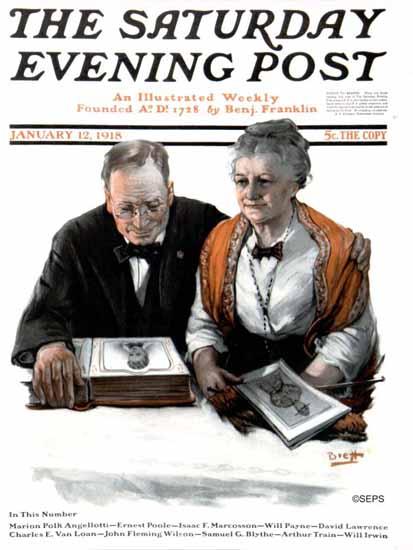 Harold Brett Saturday Evening Post Cover 1918_01_12 | The Saturday Evening Post Graphic Art Covers 1892-1930