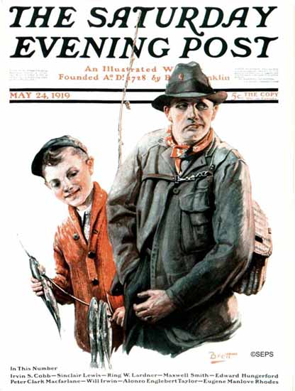 Harold Brett Saturday Evening Post Cover Art 1919_05_24 | The Saturday Evening Post Graphic Art Covers 1892-1930