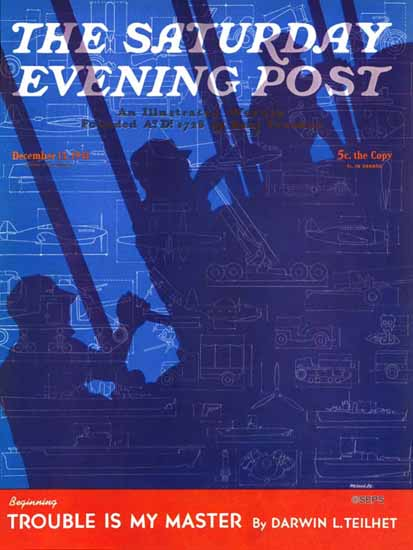 Harold Werneke Saturday Evening Post Machinery of War 1941_12_13 | The Saturday Evening Post Graphic Art Covers 1931-1969