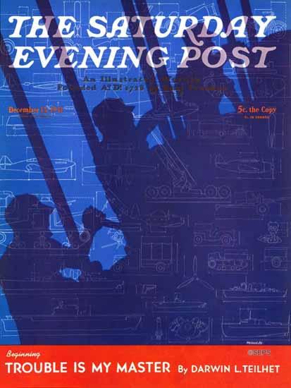 Harold Werneke Saturday Evening Post Machinery of War 1941_12_13 | The Saturday Evening Post Graphic Art Covers 1931-1969