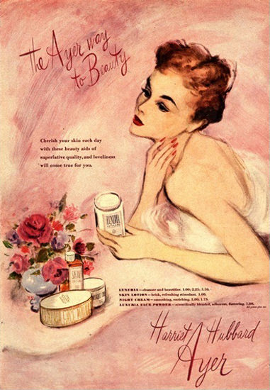 Harriet Hubbard Ayer Beauty Products | Sex Appeal Vintage Ads and Covers 1891-1970