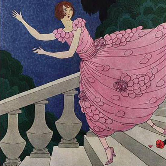 Harriet Meserole Vogue Cover 1921-07-15 Copyright crop | Best of 1920s Ad and Cover Art
