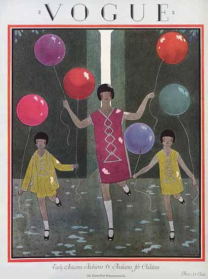 Harriet Meserole Vogue Cover 1924-08-15 Copyright   Vogue Magazine Graphic Art Covers 1902-1958