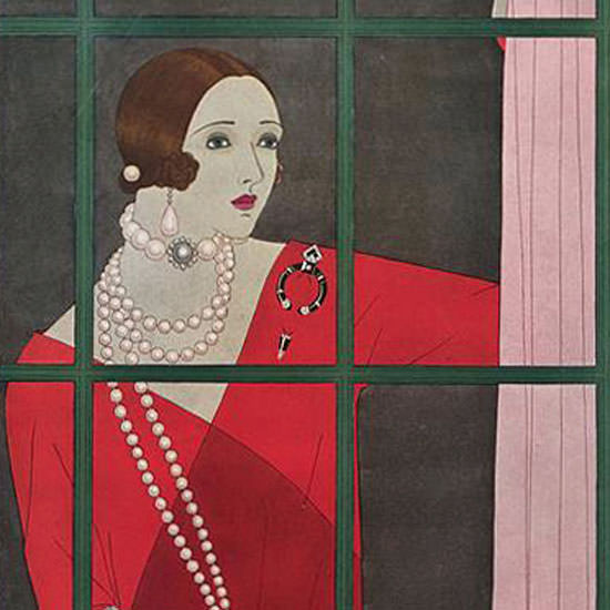 Harriet Meserole Vogue Cover 1924-10-01 Copyright crop | Best of 1920s Ad and Cover Art