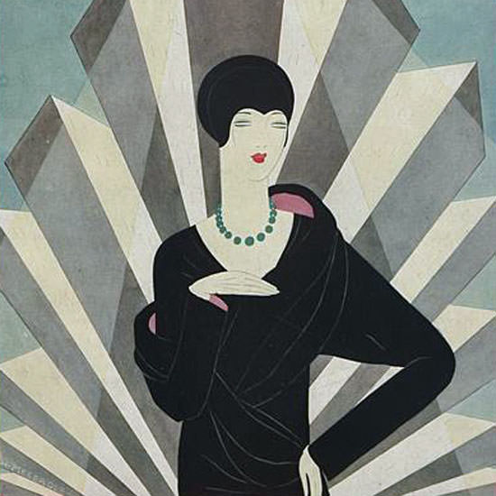 Harriet Meserole Vogue Cover 1927-03-01 Copyright crop | Best of 1920s Ad and Cover Art