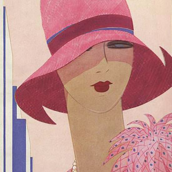 Harriet Meserole Vogue Cover 1927-05-15 Copyright crop | Best of 1920s Ad and Cover Art