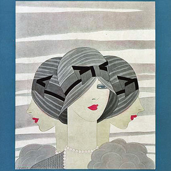 Harriet Meserole Vogue Cover 1927-09-15 Copyright crop | Best of 1920s Ad and Cover Art