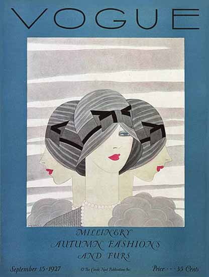 Harriet Meserole Vogue Cover 1927-09-15 Copyright | Vogue Magazine Graphic Art Covers 1902-1958