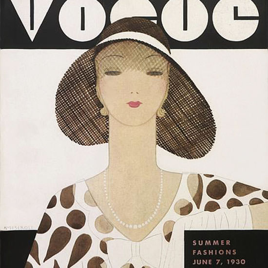 Harriet Meserole Vogue Cover 1930-06-07 Copyright crop | Best of 1930s Ad and Cover Art