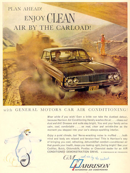 Harrison Automotive Air Conditioning GM 1962 | Vintage Ad and Cover Art 1891-1970