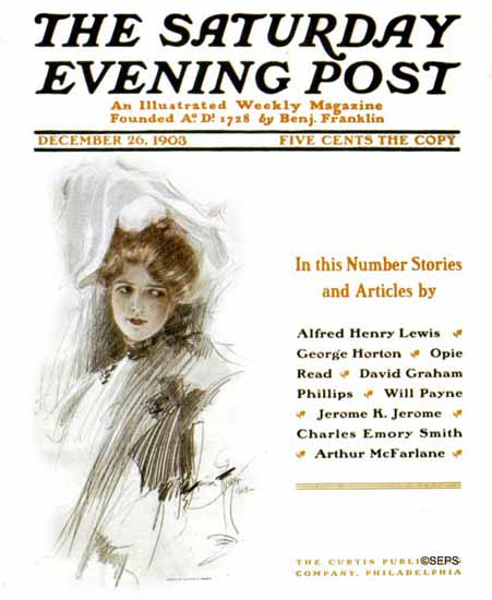 Harrison Fisher Artist Saturday Evening Post 1903_12_26   The Saturday Evening Post Graphic Art Covers 1892-1930