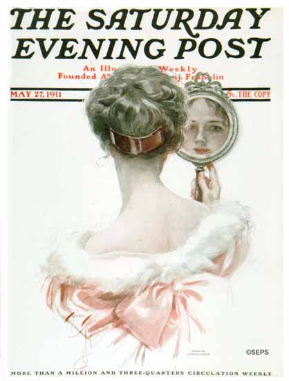 Harrison Fisher Saturday Evening Post 1911_05_27 | The Saturday Evening Post Graphic Art Covers 1892-1930