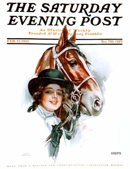 Harrison Fisher Saturday Evening Post 1912_02_17   The Saturday Evening Post Graphic Art Covers 1892-1930