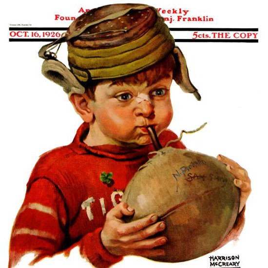 Harrison McCreary Saturday Evening Post 1926_10_16 Copyright crop | Best of Vintage Cover Art 1900-1970