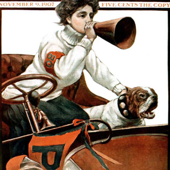 Harry B Lachman Saturday Evening Post Cover 1907_11_09 Copyright crop | Best of 1891-1919 Ad and Cover Art