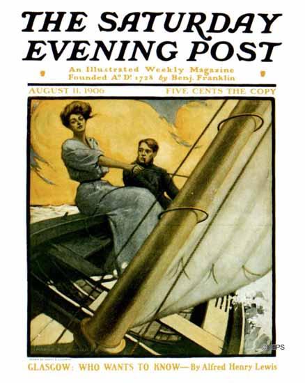 Harry B Lachman Saturday Evening Post Cover Art 1906_08_11 | The Saturday Evening Post Graphic Art Covers 1892-1930