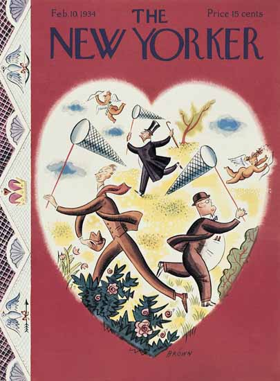 Harry Brown The New Yorker 1934_02_10 Copyright | The New Yorker Graphic Art Covers 1925-1945
