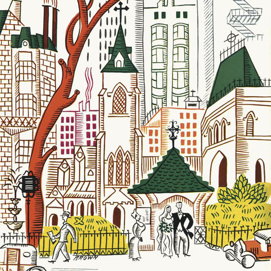 Harry Brown The New Yorker 1934_06_02 Copyright crop | Best of Vintage Cover Art 1900-1970