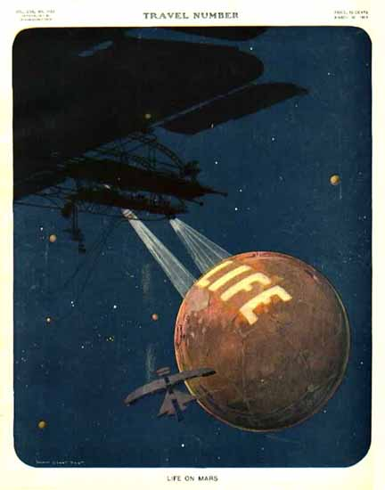 Harry Grant Dart Life on Mars 1911-03-30 Copyright | Life Magazine Graphic Art Covers 1891-1936