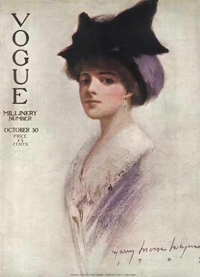 Harry Morse Meyers Vogue Cover 1909-10-30 Copyright | Vogue Magazine Graphic Art Covers 1902-1958