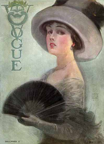 Harry Morse Meyers Vogue Cover 1910-12-15 Copyright | Vogue Magazine Graphic Art Covers 1902-1958