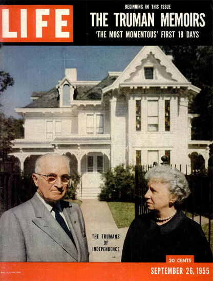 Harry S and Bess Truman 26 Sep 1955 Copyright Life Magazine | Life Magazine Color Photo Covers 1937-1970