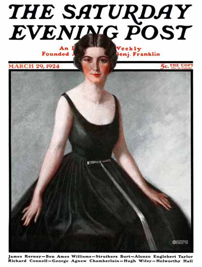 Harry Solon Saturday Evening Post Cover Art 1924_03_29 | The Saturday Evening Post Graphic Art Covers 1892-1930