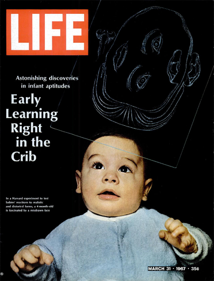 Harvard Experiment Early Learning 31 Mar 1967 Copyright Life Magazine | Life Magazine Color Photo Covers 1937-1970